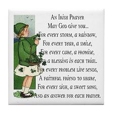 An Irish Prayer Tile Coaster