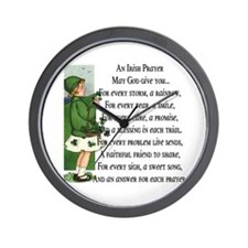 An Irish Prayer Wall Clock