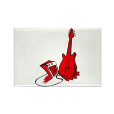 guitar amp stylized red Magnets
