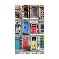 2-Scotland Doors 16x20 Decal