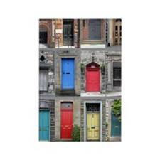 2-Scotland Doors 16x20 Rectangle Magnet