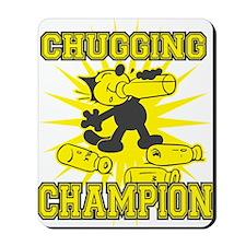 3-chuggingchampion Mousepad
