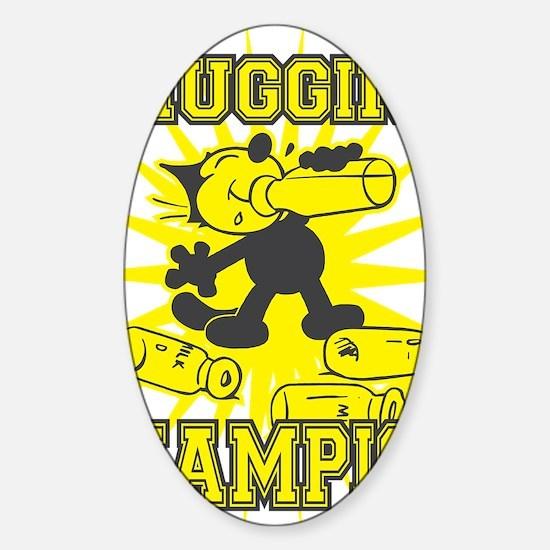 3-chuggingchampion Sticker (Oval)