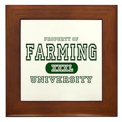 Farming University Framed Tile