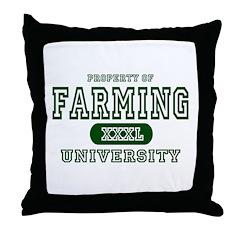 Farming University Throw Pillow