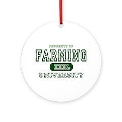 Farming University Ornament (Round)