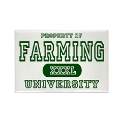 Farming University Rectangle Magnet (10 pack)