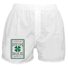IrishAmericanBuffWht Boxer Shorts