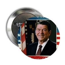 """Ronald_Reagan_100th_6x6 2.25"""" Button"""