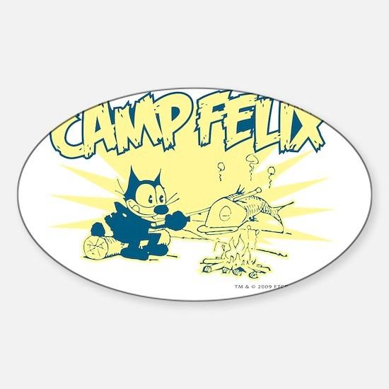 3-campfelix Sticker (Oval)