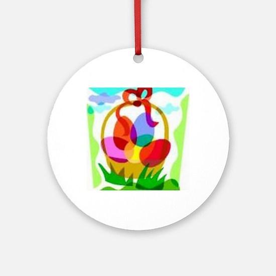 2-easter basket Round Ornament