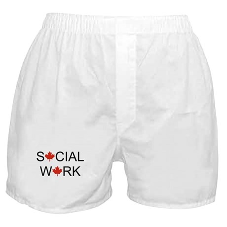 Social Work Maple Leaf Boxer Shorts