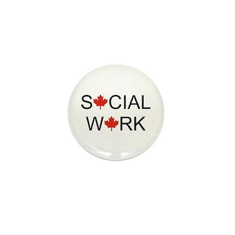Social Work Maple Leaf Mini Button