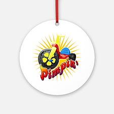 Big Wheel Pimpin Round Ornament