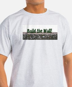 Build the Wall Ash Grey T-Shirt