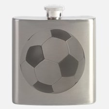 5-soccerballblack Flask