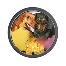 easter eggs and dogs copy Wall Clock
