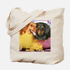 easter eggs and dogs copy Tote Bag
