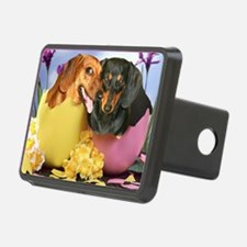 easter eggs and dogs copy Hitch Cover