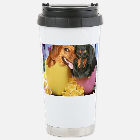 easter eggs and dogs copy Stainless Steel Travel M