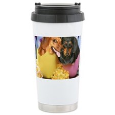 easter eggs and dogs copy Travel Mug
