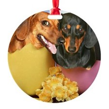 easter eggs and dogs copy Ornament