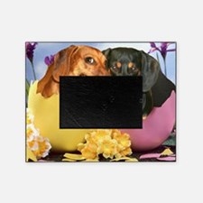 easter eggs and dogs copy Picture Frame