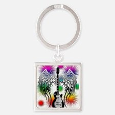 Guitar png Square Keychain