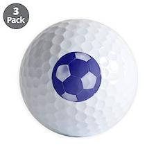 soccerballblue Golf Ball