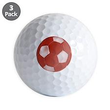 soccerballred Golf Ball