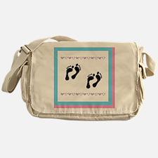 2 sets of foot prints Messenger Bag