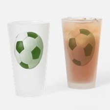 soccerballgreen Drinking Glass