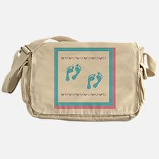 2 sets of foot prints 2b Messenger Bag