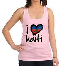 iheart-Haiti Racerback Tank Top