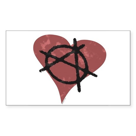 Anarchy Heart Rectangle Sticker