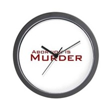 Abortion is Murder Wall Clock