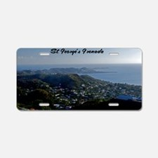 St Georges Grenada42x28 Aluminum License Plate