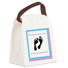 1 foot print Canvas Lunch Bag