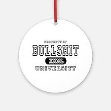 Bullshit University Ornament (Round)