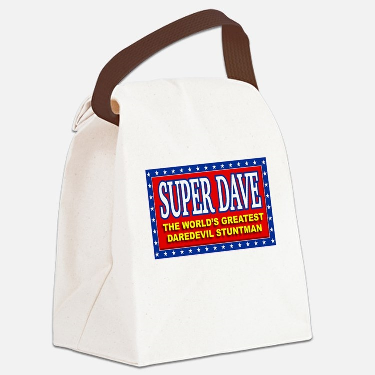 super dave Canvas Lunch Bag