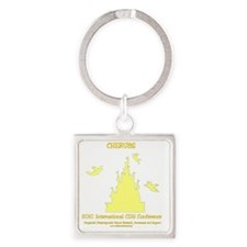 2-2010conferenceyellowbw Square Keychain