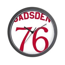 Gadsden 76 - Red On White Wall Clock
