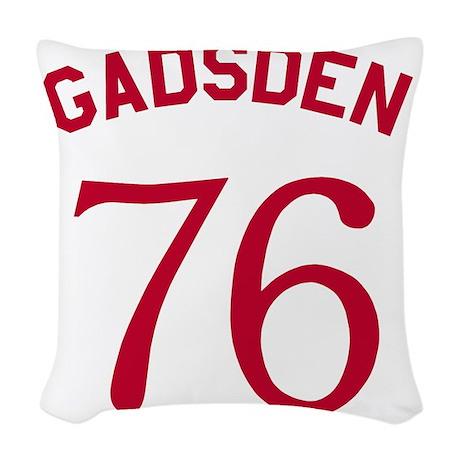 Gadsden 76 - Red On White Woven Throw Pillow