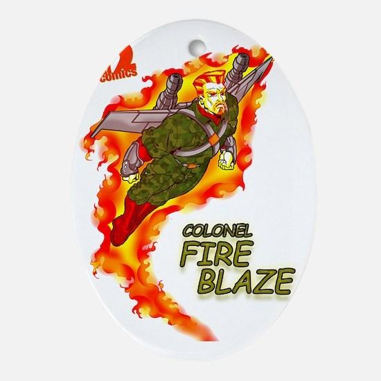 Fire Blaze_COR copy Oval Ornament