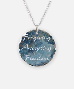 forgiving-accepting-freedom Necklace Circle Charm