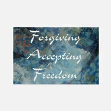 forgiving-accepting-freedom Rectangle Magnet