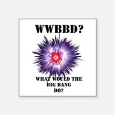 "wwbd-purple black Square Sticker 3"" x 3"""