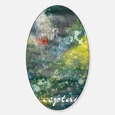 acceptance poster art Sticker (Oval)