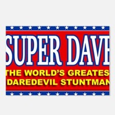 super dave Postcards (Package of 8)