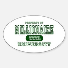 Millionaire University Oval Decal
